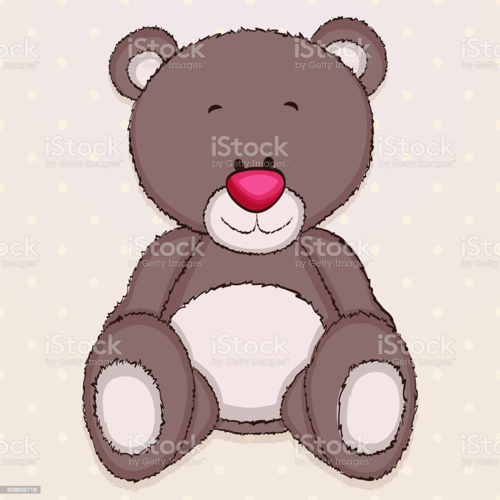 Teddy bear vector art illustration