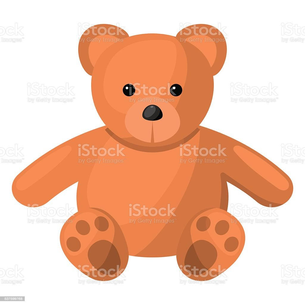 Teddy colorful icon vector art illustration