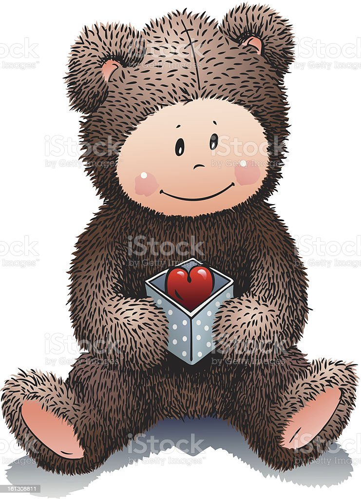 Teddy in love royalty-free stock vector art
