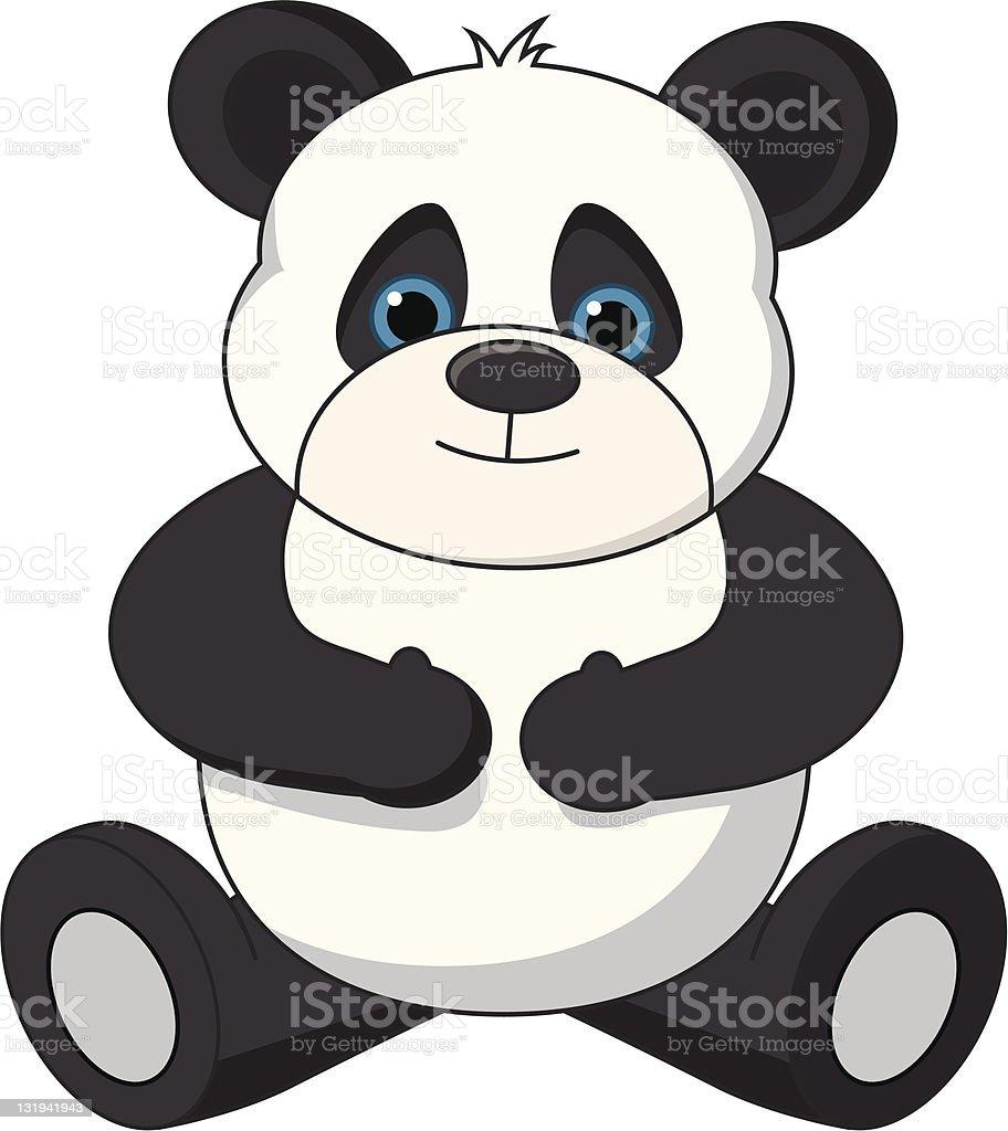 Teddy Panda Bear royalty-free stock vector art