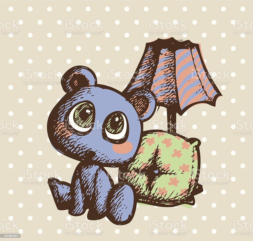 teddy vector art illustration