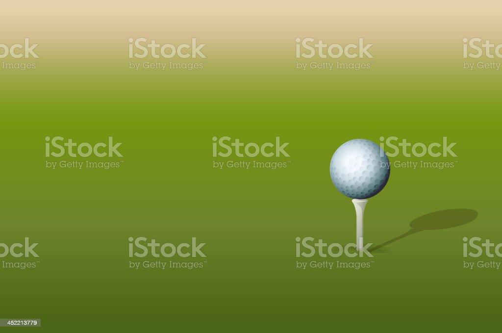 Tee and golf ball royalty-free stock vector art