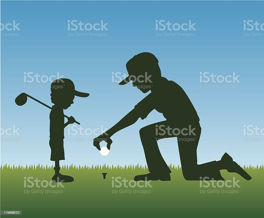 Tee Up royalty-free stock vector art