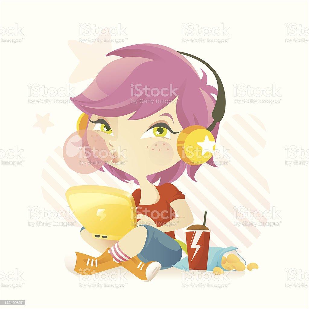 Teen Blogger (BubblyGirl) vector art illustration