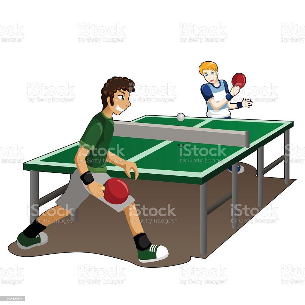 Adolescente jugando al tenis de mesa illustracion libre de derechos libre de derechos