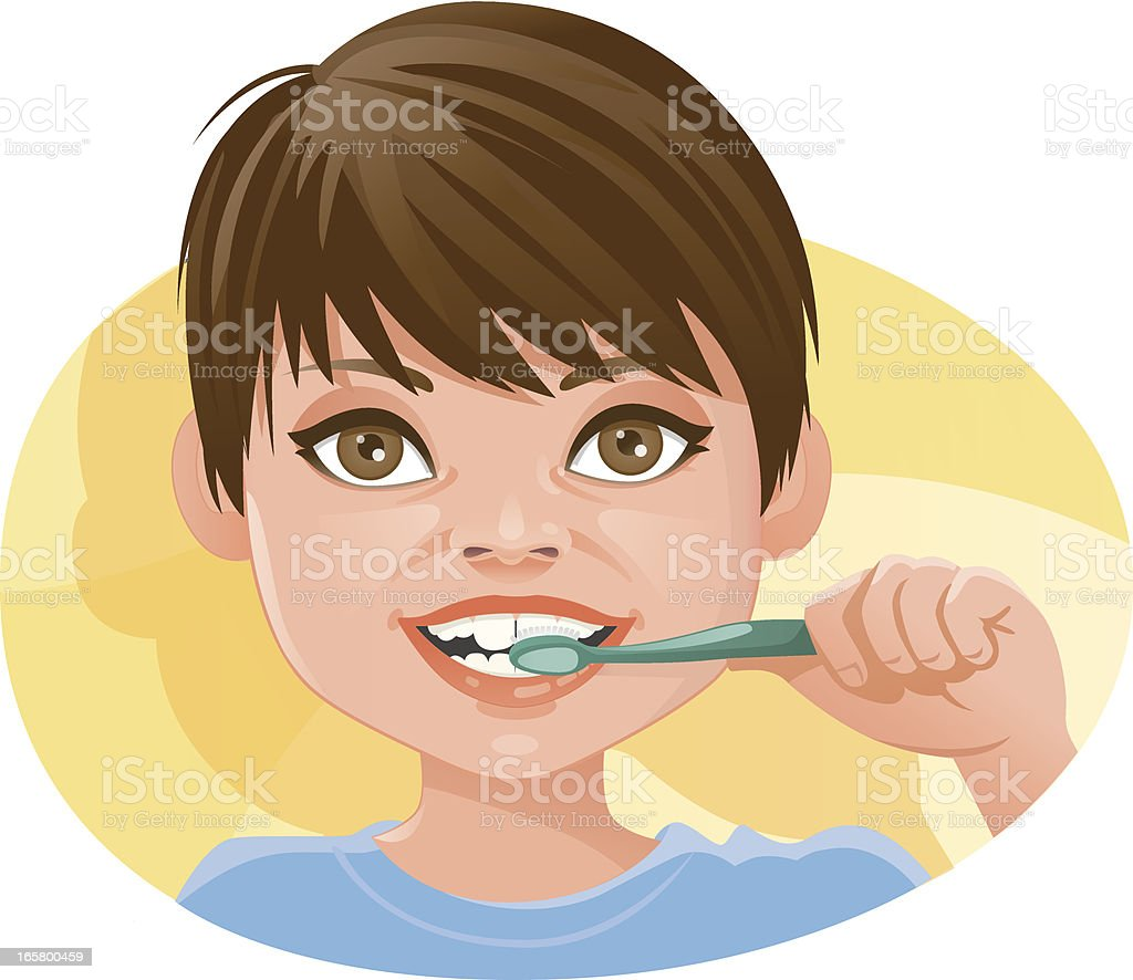 Teeth Brushing vector art illustration