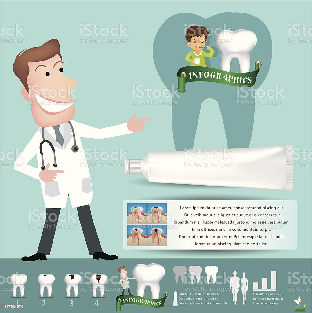 Teeth care infographics.vector illustration vector art illustration