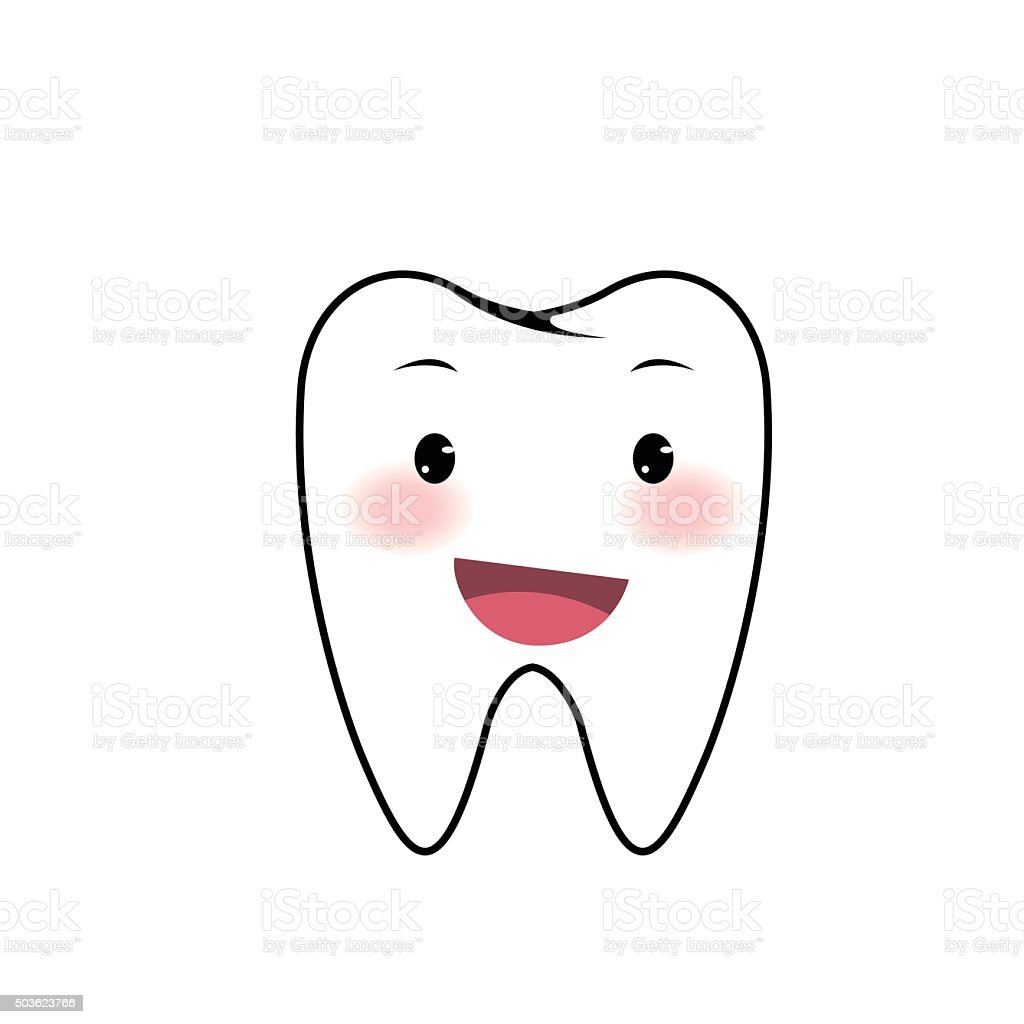 Dents dessin anim stock vecteur libres de droits - Dessin de dent ...