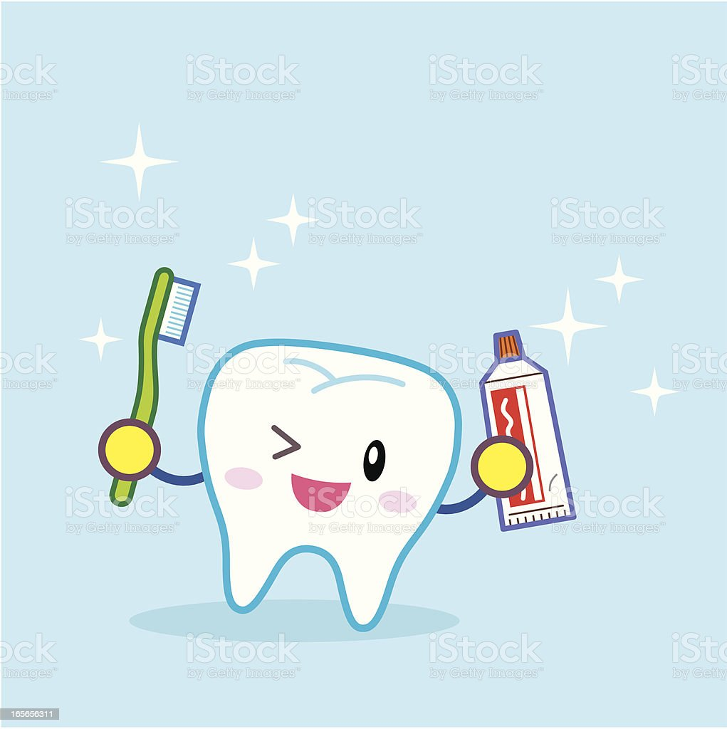 Teeth Cleaning vector art illustration