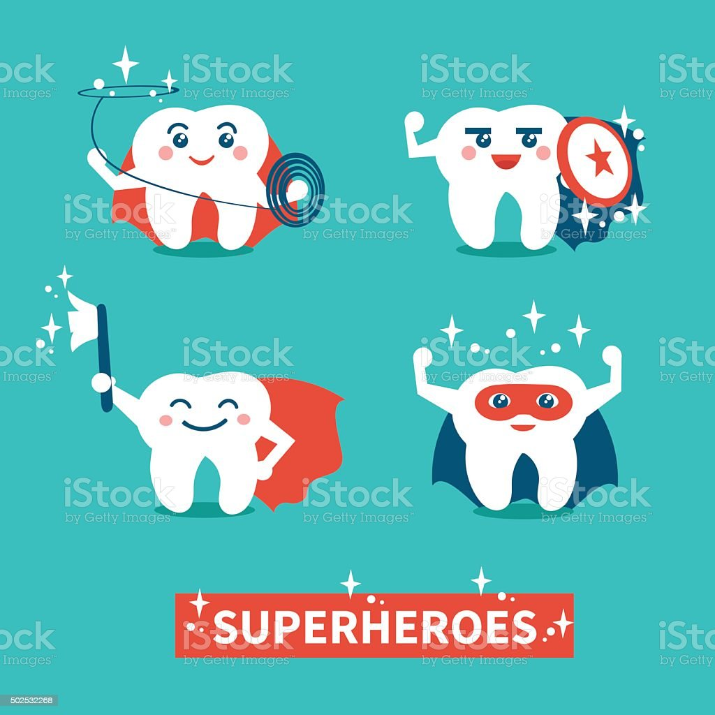 Teeth hygiene vector art illustration