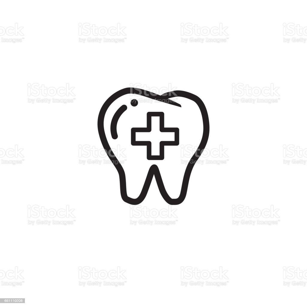 teeth icon/dental icon for website design, logo vector art illustration