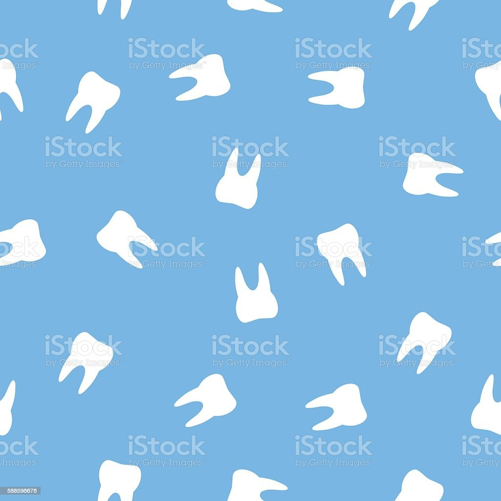 Teeth Pattern vector art illustration