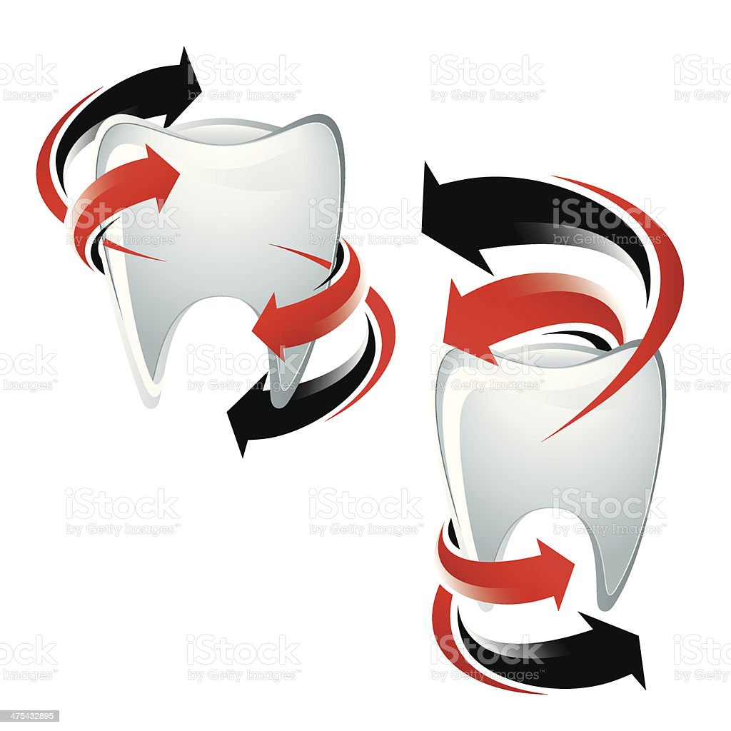 Teeth protection symbols royalty-free stock vector art