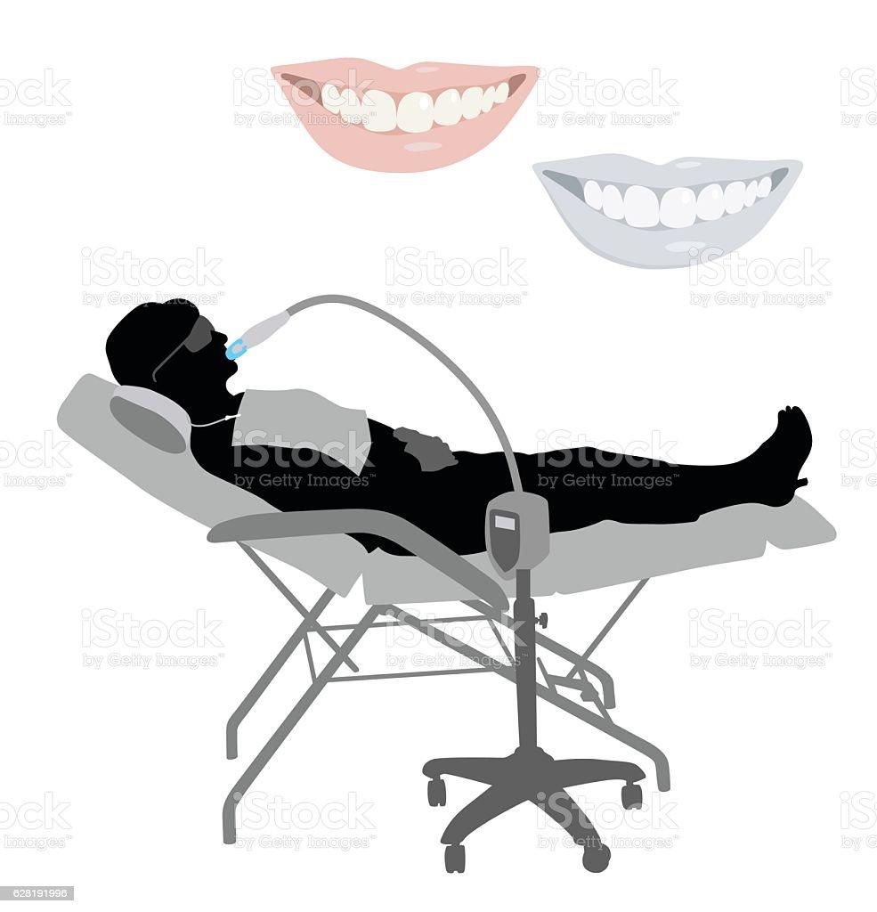 Teeth Whitening Treatment vector art illustration