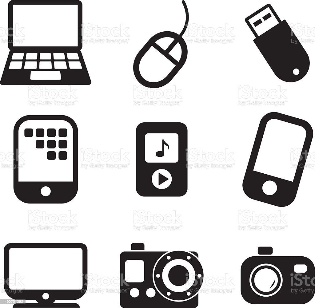 Tehnology Icons vector art illustration
