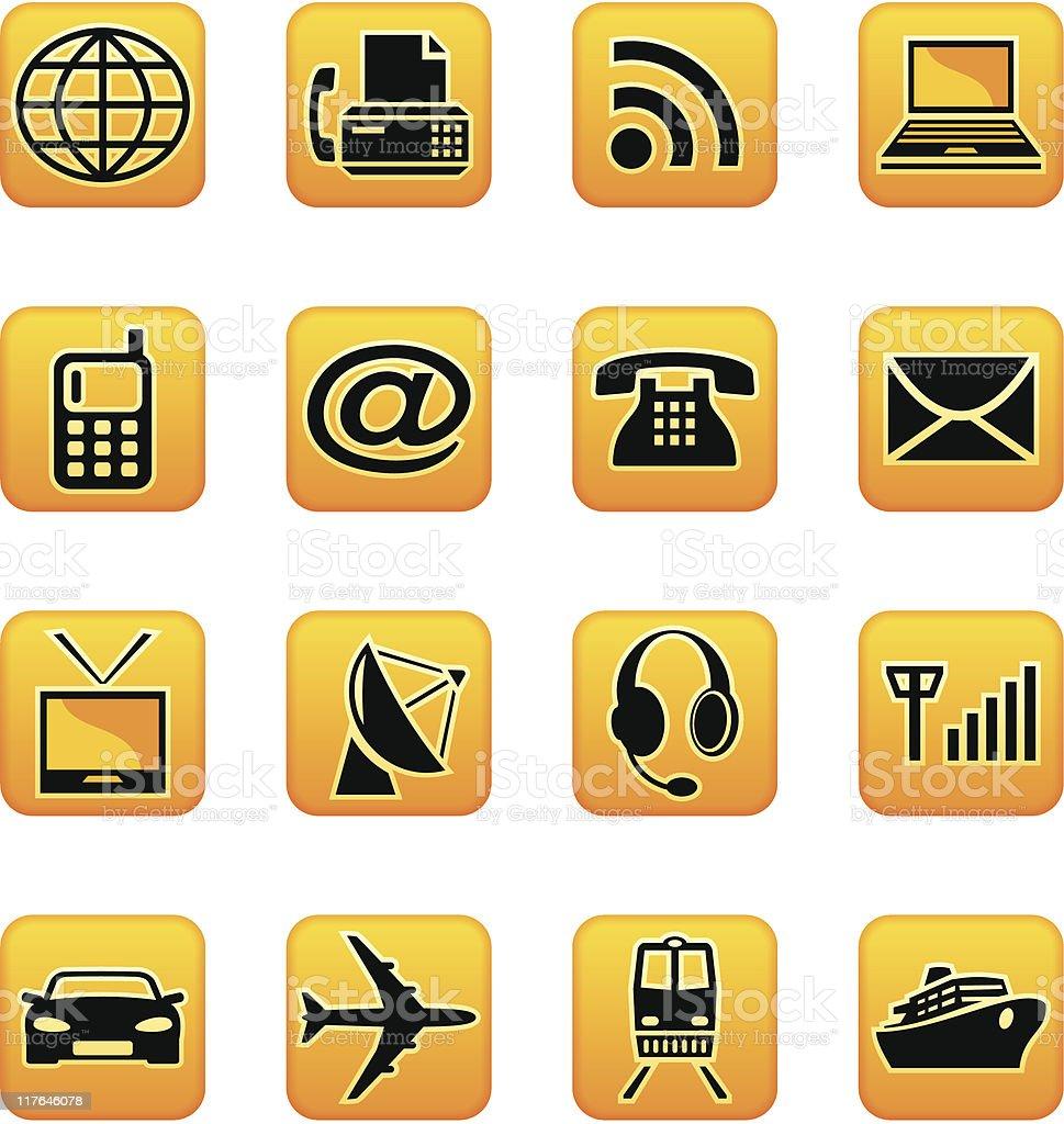 Telecom & transport stock vecteur libres de droits libre de droits
