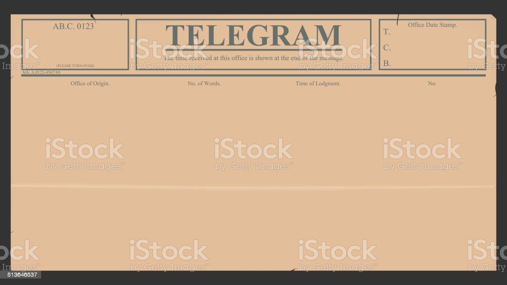Telegram vector art illustration