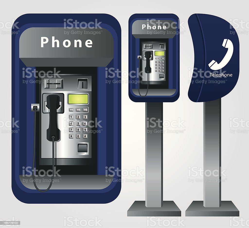 Telephone Booth royalty-free stock vector art