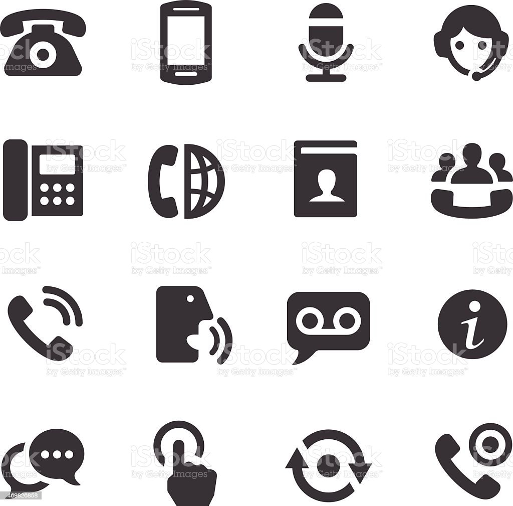 Telephone Icons - Acme Series vector art illustration