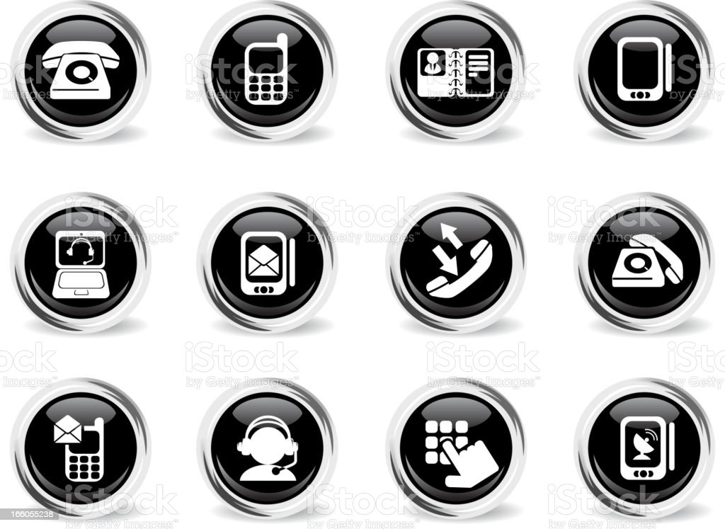 Telephone Icons royalty-free stock vector art