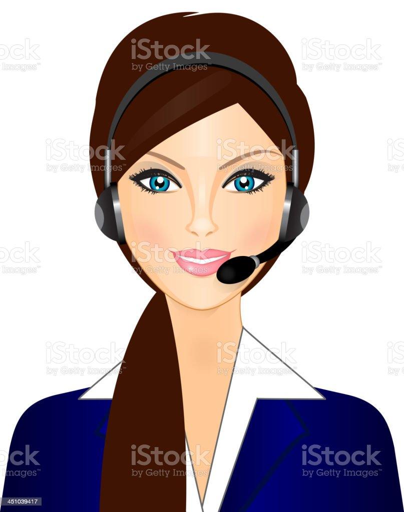telephone operator royalty-free stock vector art