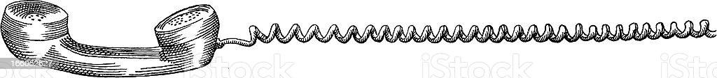 Telephone Receiver vector art illustration