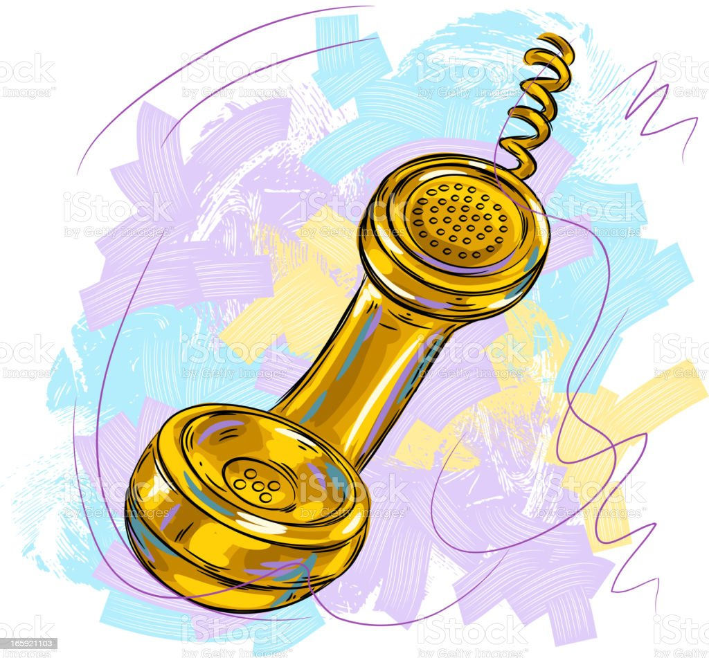 Telephone Reciver vector art illustration
