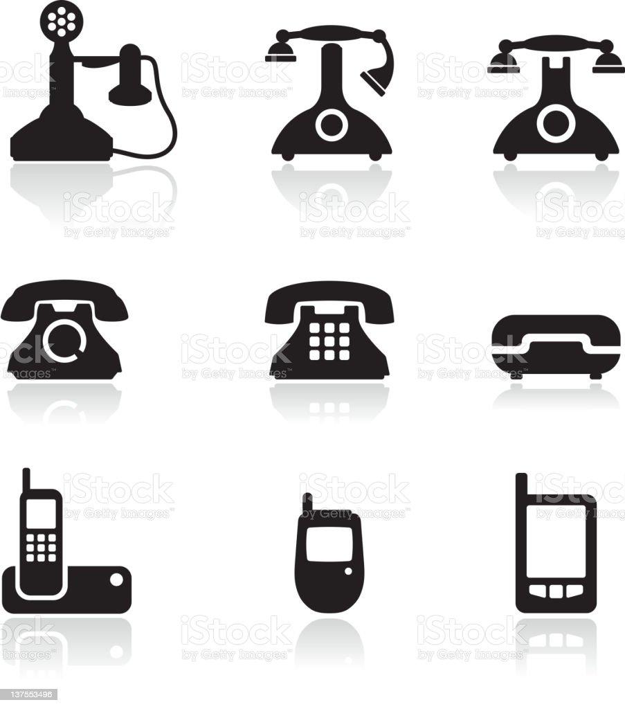 telephone royalty free vector icon set royalty-free stock vector art