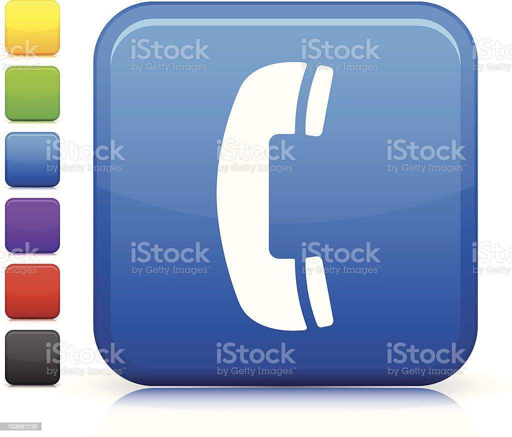 telephone square internet icon vector art illustration