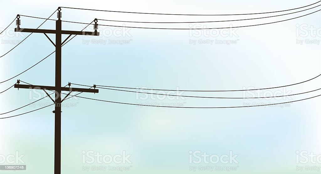 Telephone Wire royalty-free stock photo