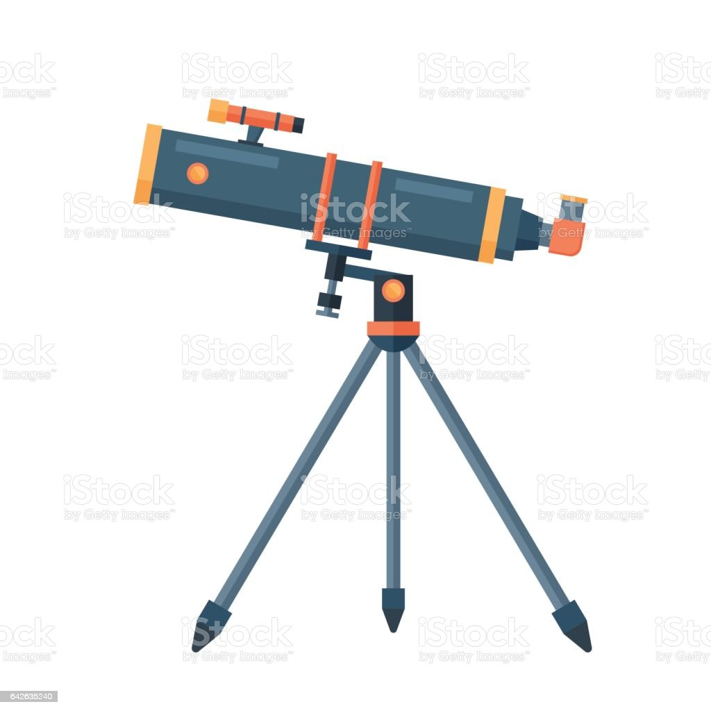 Telescope for astronomy science space discovery instrument vector illustration vector art illustration