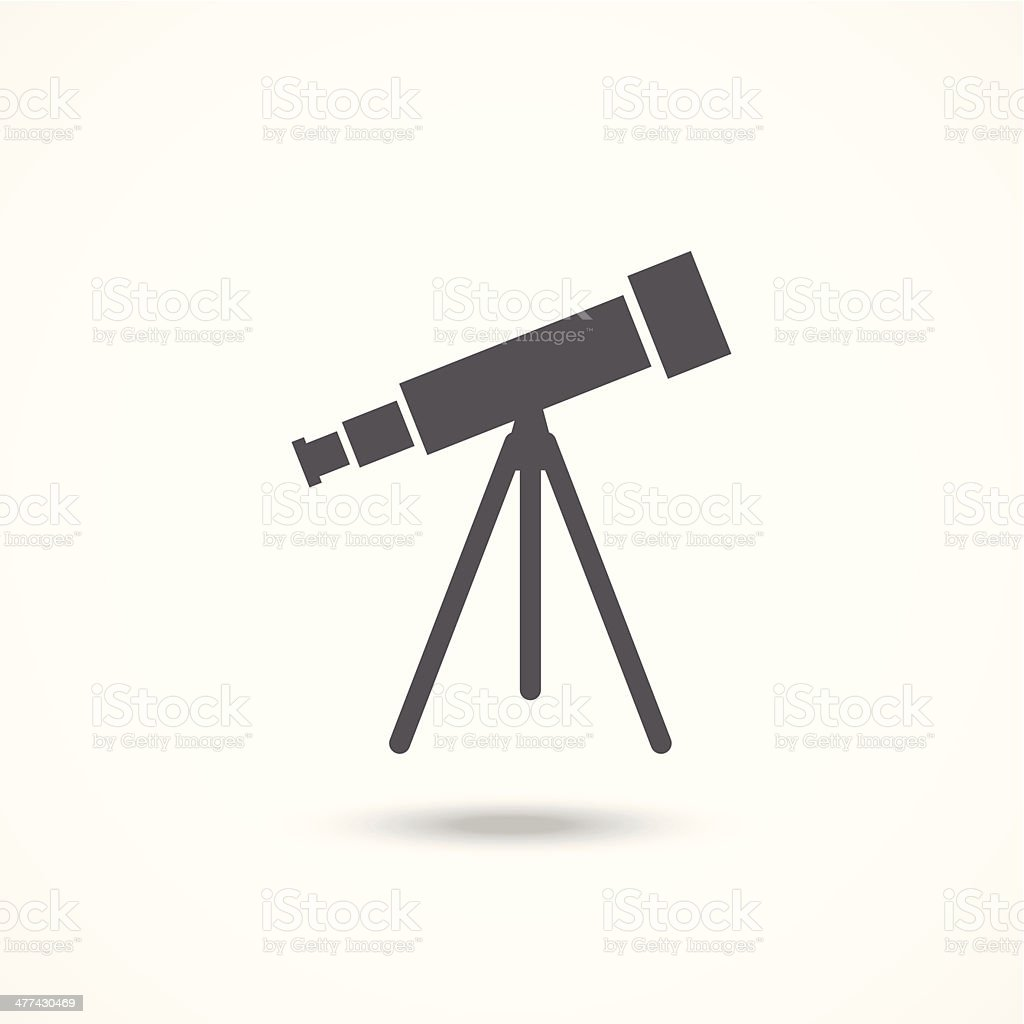 Telescope icon vector art illustration