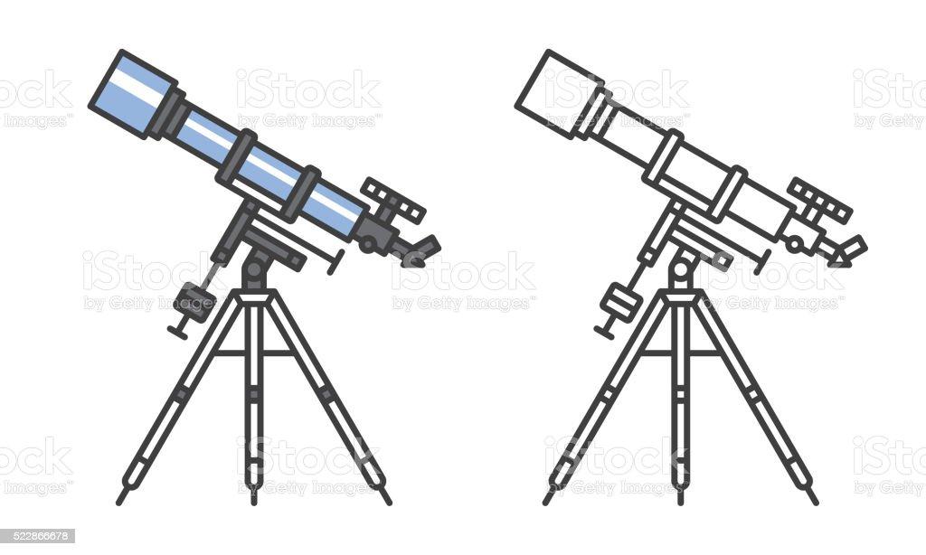 Telescope icon vector art illustration