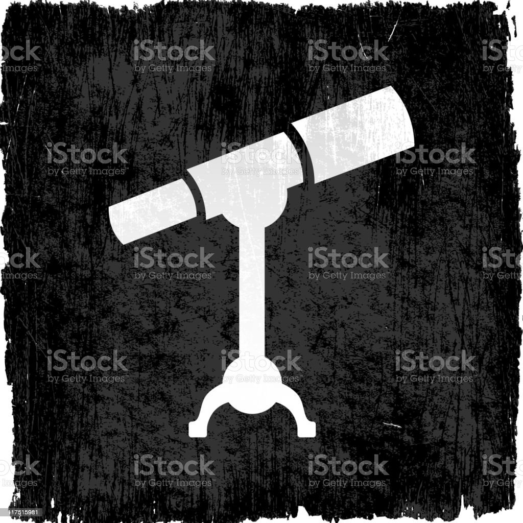 telescope on royalty free vector Background vector art illustration