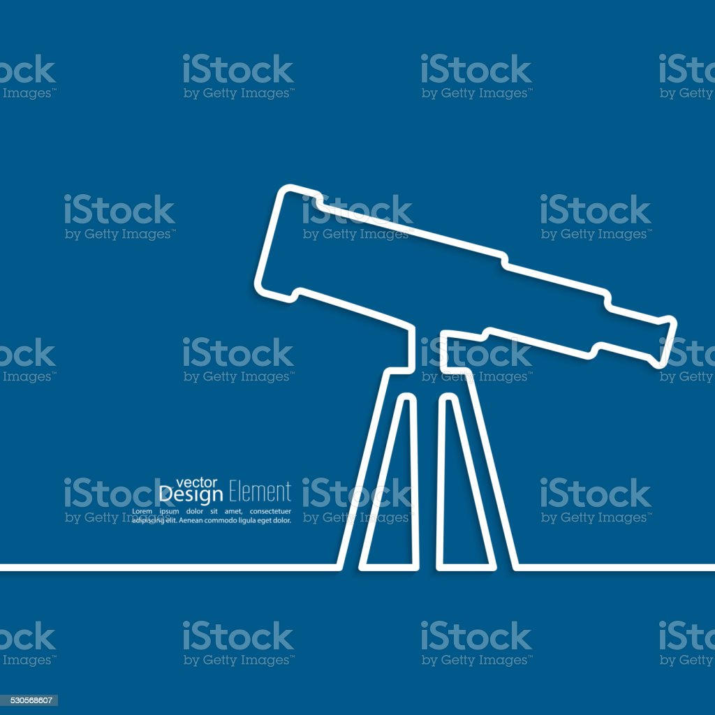 Telescope standing on a tripod. vector art illustration