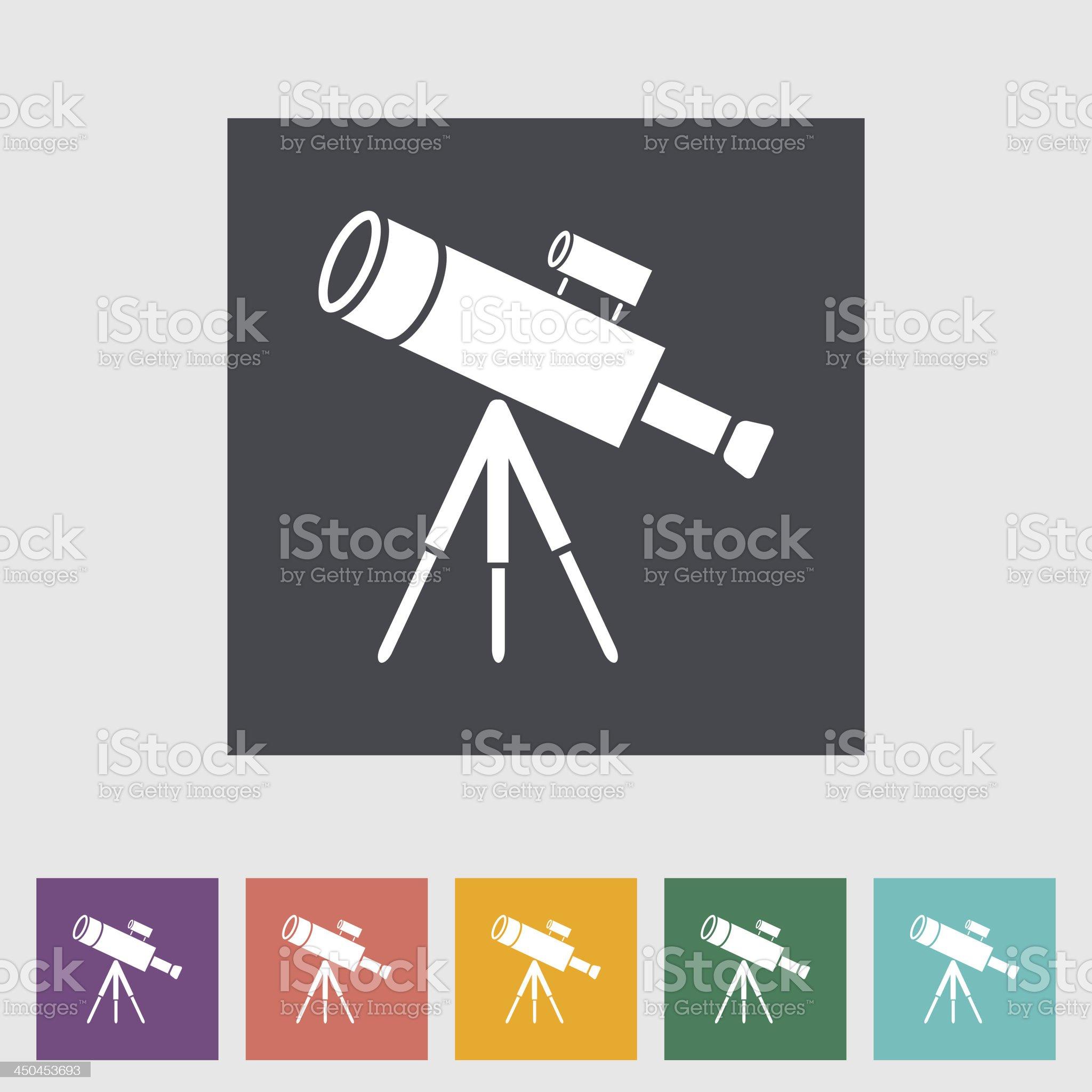 Telescope royalty-free stock vector art