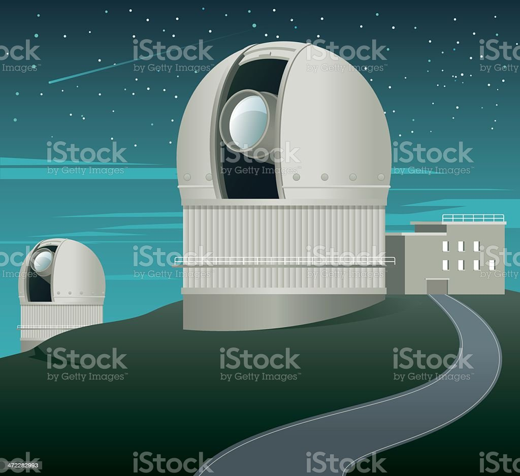 Telescope royalty-free stock vector art
