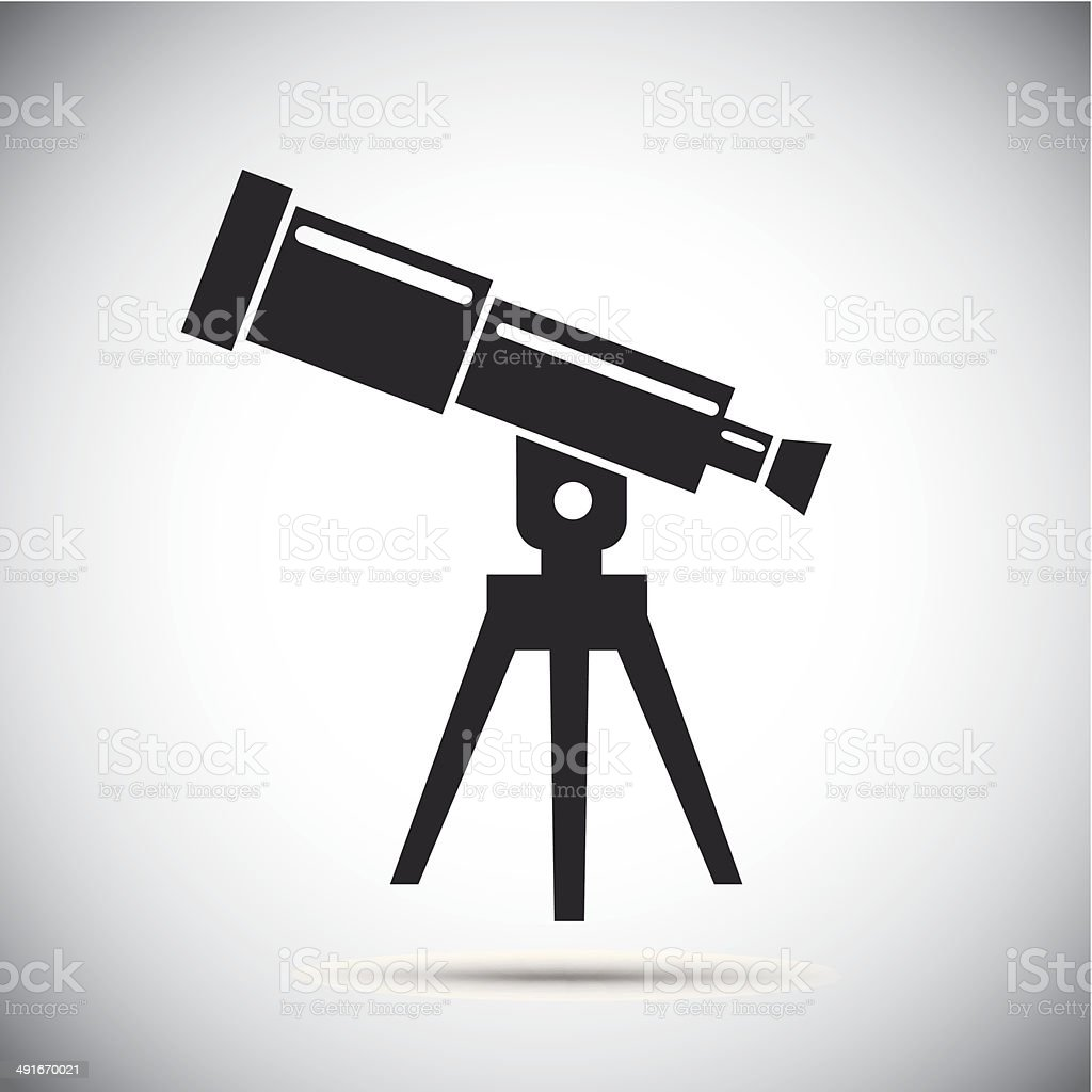 Telescope vector art illustration