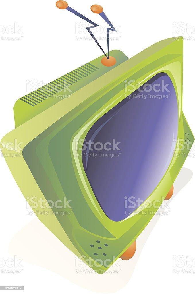 Iconos de colores de las excitantes televisión - ilustración de arte vectorial