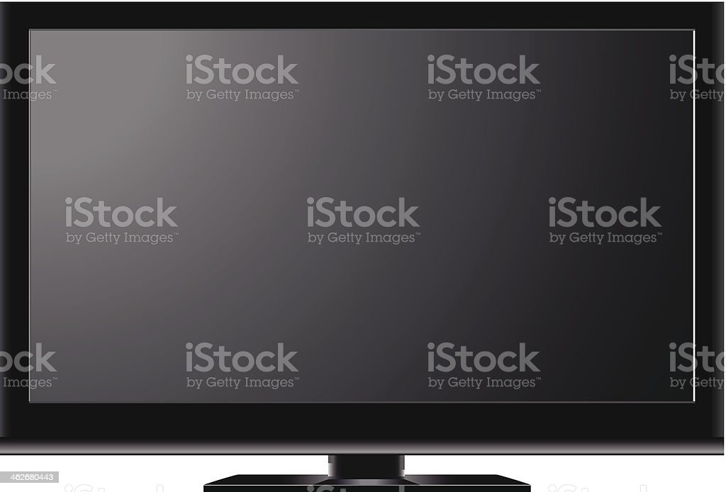 Television isolated on white background vector art illustration
