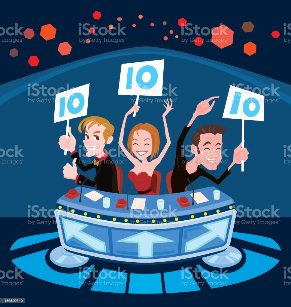 Television show judges say Yes vector art illustration