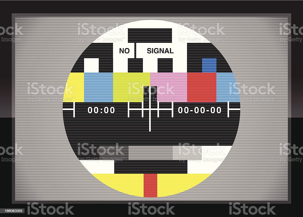 Television test screen in case royalty-free stock vector art