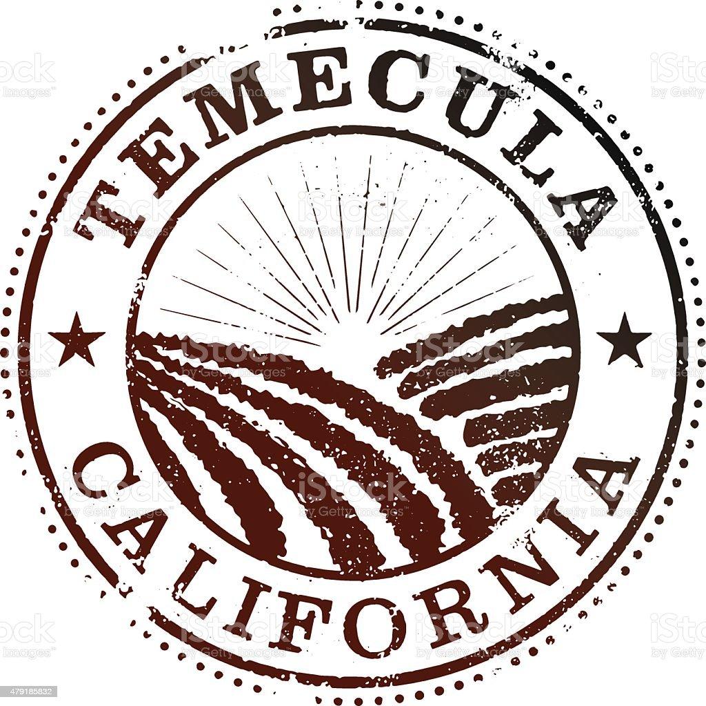 Temecula California Stamp vector art illustration