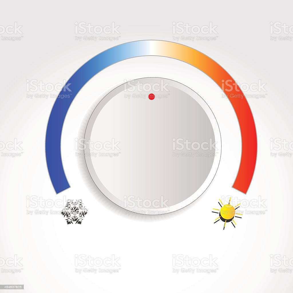 Temperature Knob vector art illustration