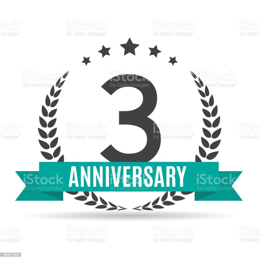 Template 3 Years Anniversary Vector Illustration vector art illustration