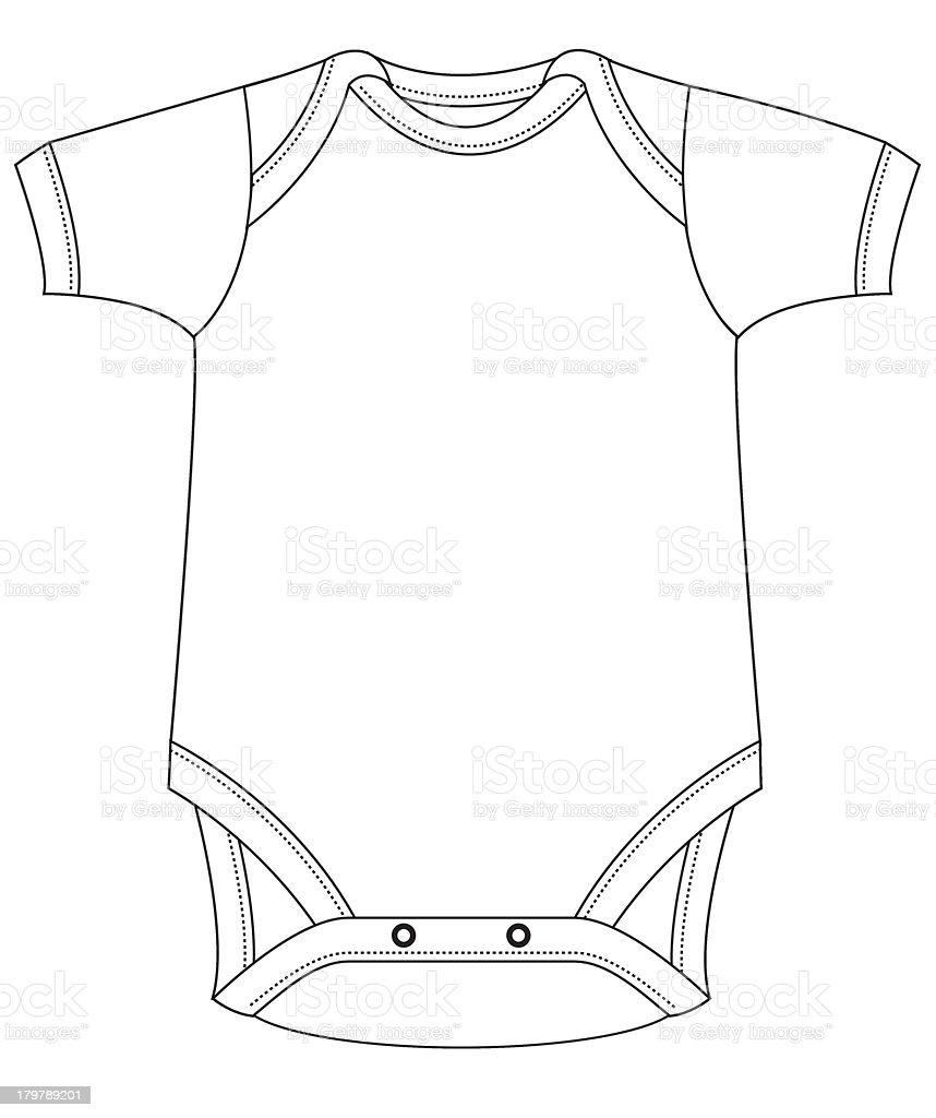 Template Baby Grow stock vector art 179789201 | iStock
