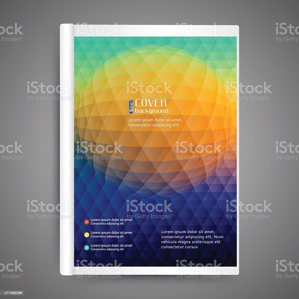 Template book cover vector art illustration