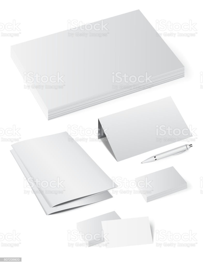 Template booklet folder for papers, a4 sheets vector art illustration