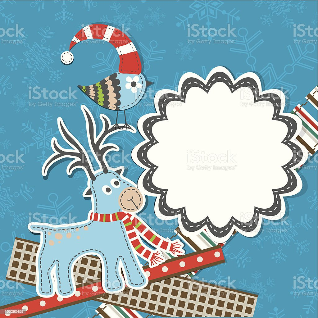 Template Christmas card royalty-free stock vector art