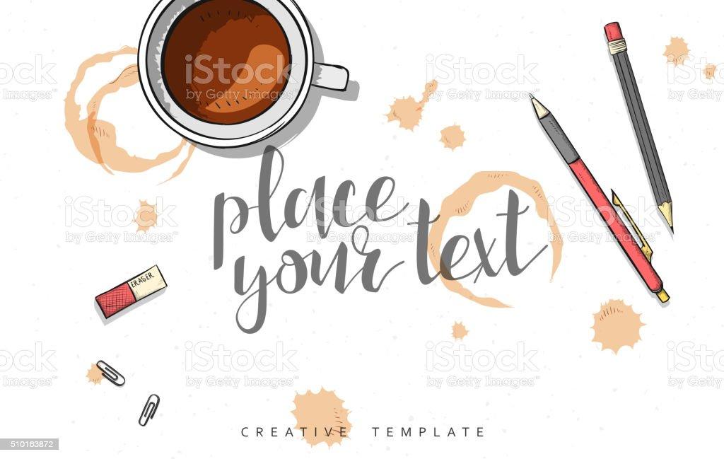 Template design concept sketch illustration for marketing. Concept mockup vector art illustration